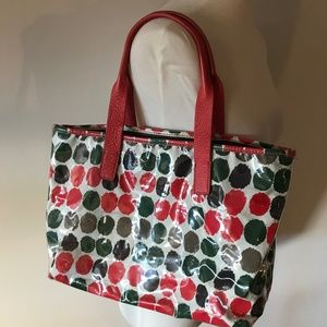 J Crew Montmartre coated tote with leather handles